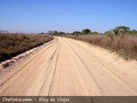 Camino al Parque Nacional Mburucuyá