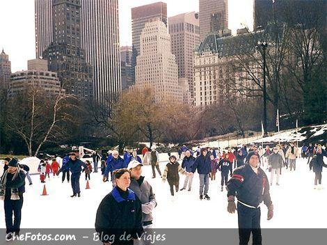 Patinando en el Central Park, New York