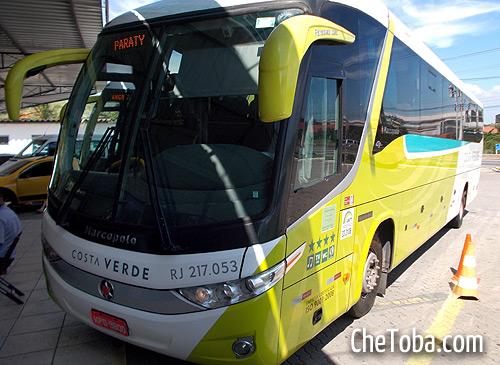 Transporte público desde Río de Janeiro hasta Angra do Reis y Paraty