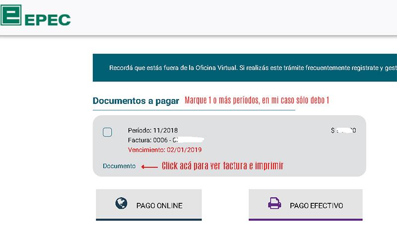 Imprimir Factura de Epec - Paso a Paso actualizado 2020 - 0800 EPEC