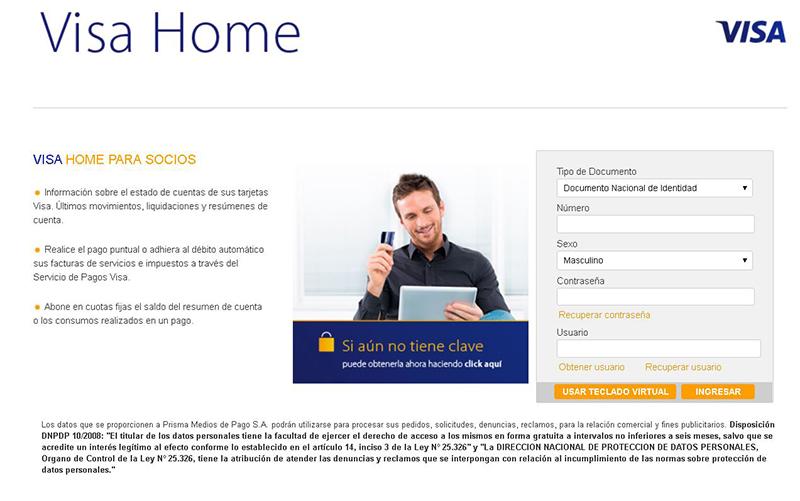 Informar viaje al exterior Tarjeta Visa - Paso a paso