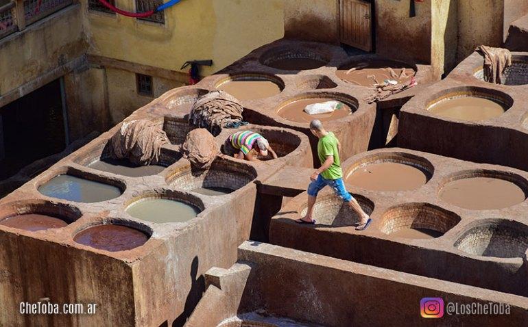 Curtiembres en Marruecos