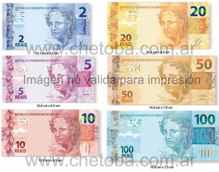 Billetes reales Brasil