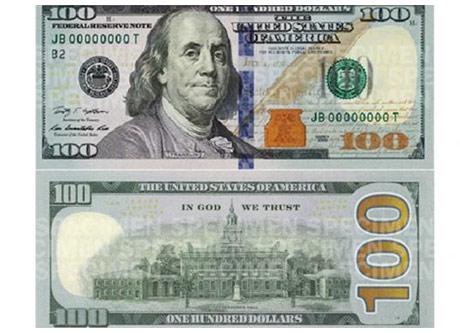 Nuevo billete de 100 dolares