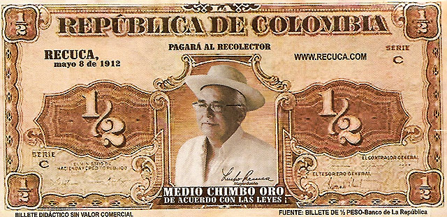 Medio Chimbo Oro - Billete Colombia