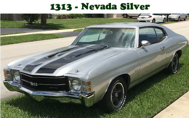1971 Chevelle Ss Production Numbers