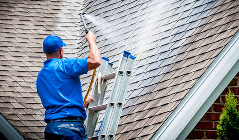 Exterior cleaning a roof is part of home maintenance