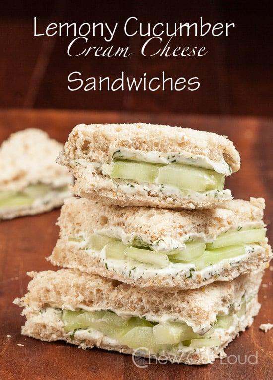 Lemony Cucumber Sandwiches