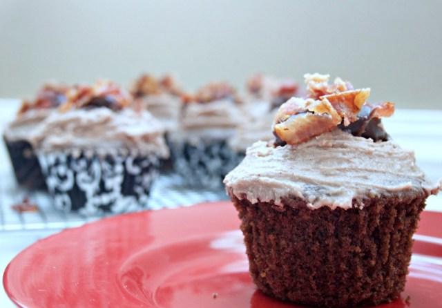 Bacon Bourbon Chocolate Cupcakes