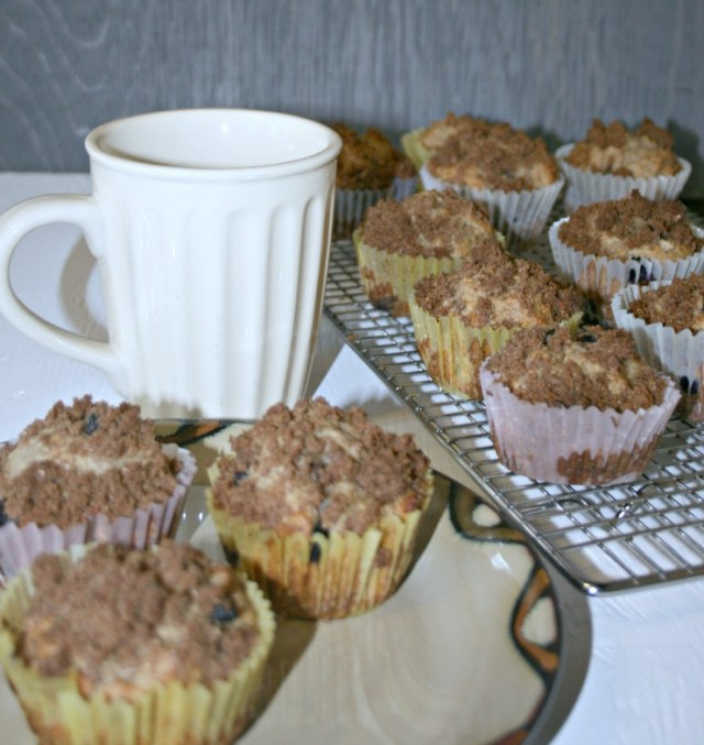 Greek Yogurt Whole Wheat Blueberry Muffins