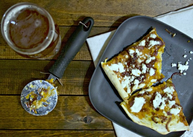 Butternut Squash Caramelized Onion Feta Pizza