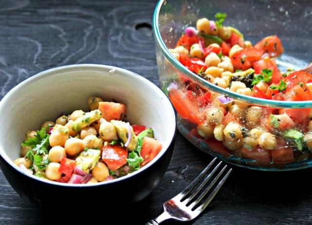 chickpea avocado salad