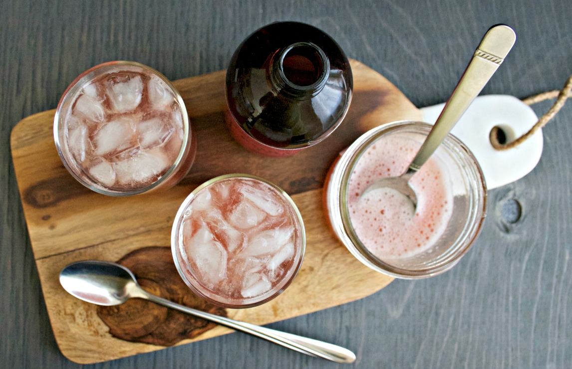 Rhubarb Hibiscus Gin and Tonic ~ Chews and Brews