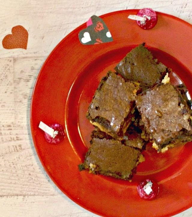Hershey's Caramel Kisses Slutty Brownies