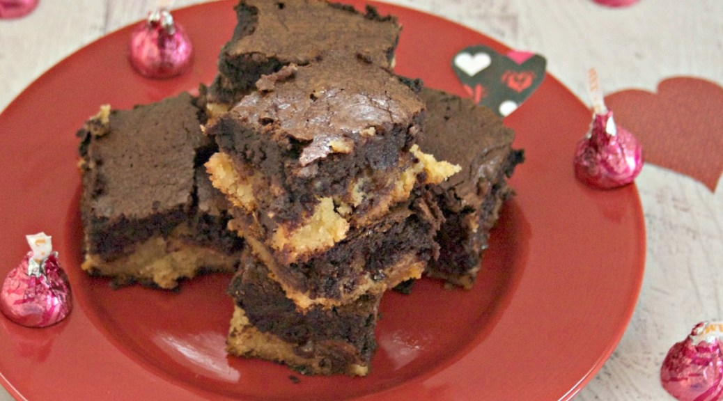 Hershey's Caramel Kisses Slutty Brownie