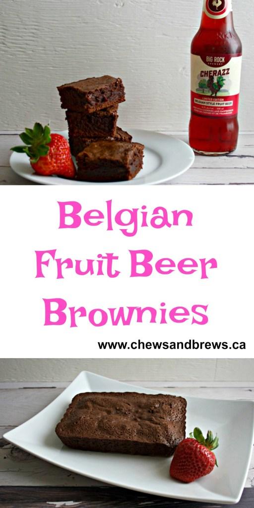 Belgian Fruit Beer Brownies