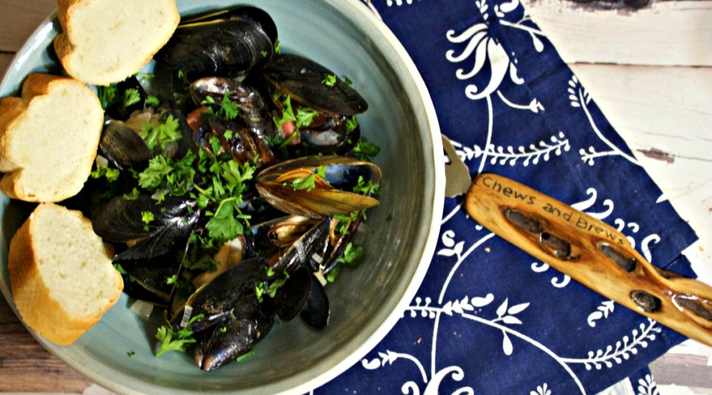 Gose Beer Steamed Mussels