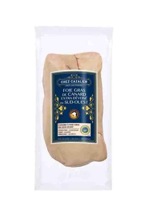 Foie gras de canard extra déveiné du sud-ouest