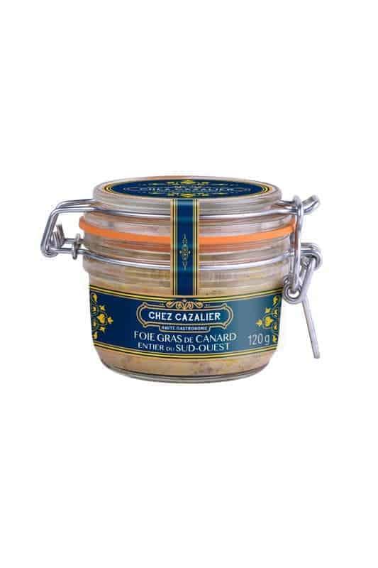 Foie gras de canard entier du sud-ouest 120 g