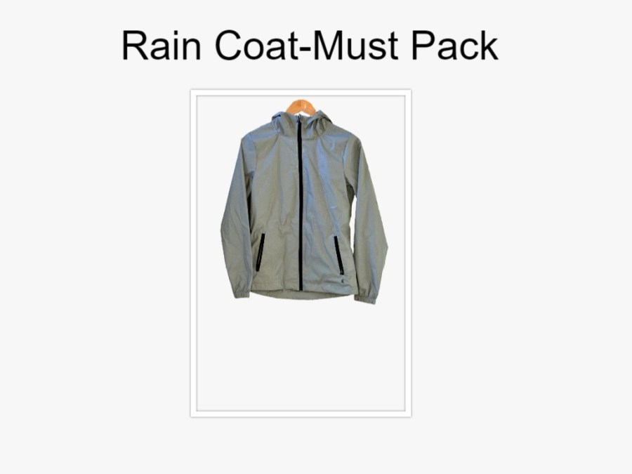 Raincoat-Must Pack pieces
