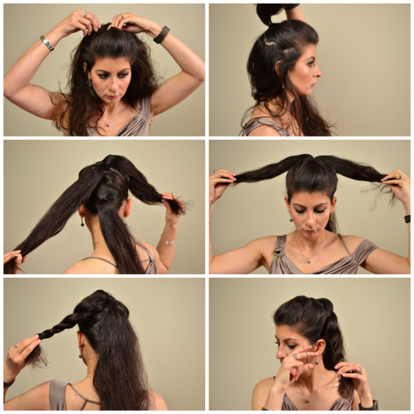 The triple twisted updo