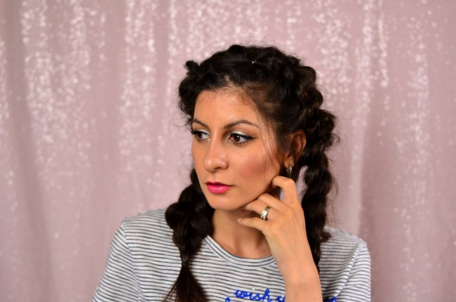 How to fake french braids for beginners- Easy Faux braids