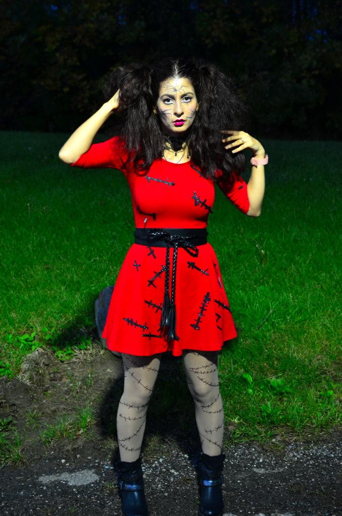 Halloween DIY broken doll costume-last minute halloween look