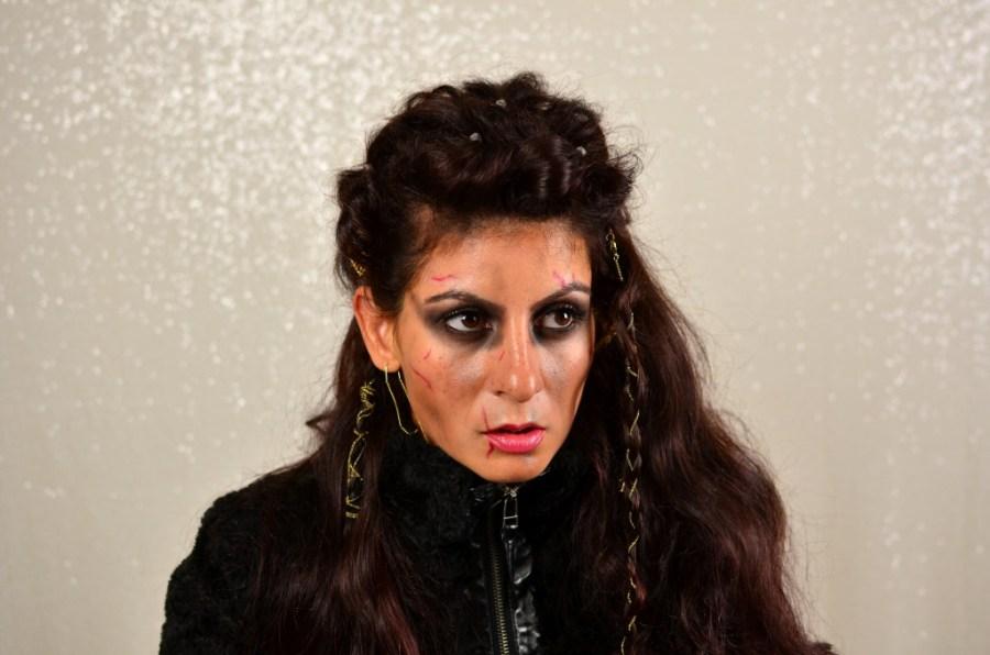 Viking Warrior woman Halloween Hairstyle-lagertha the shieldmaiden easy hair look