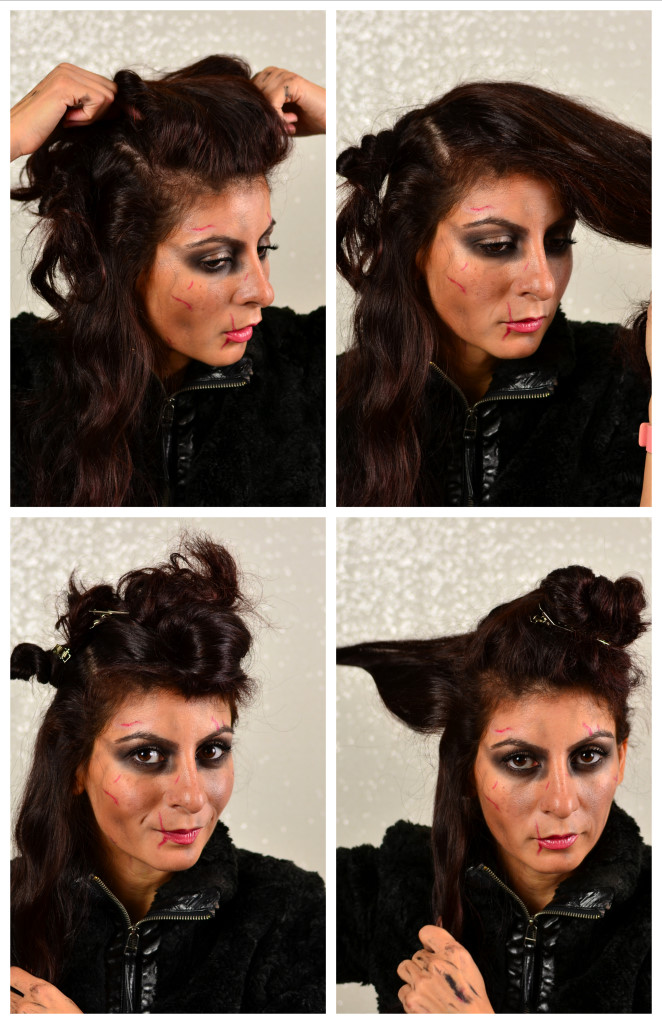 Viking Warrior woman Halloween Hairstyle-lagertha the shieldmaiden easy hair look