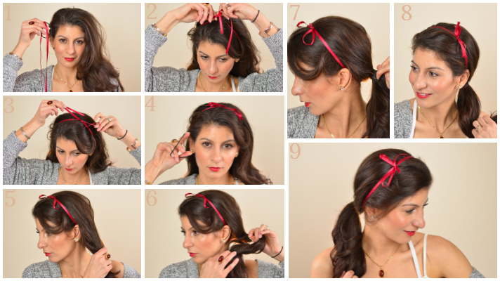 Bow hairstyle: Valentine's day hairstyles for short to long hair.