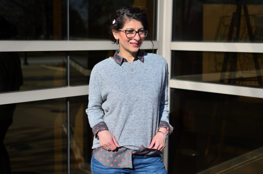 Winter lunch outfit: Semi-Casual Galentine's day look