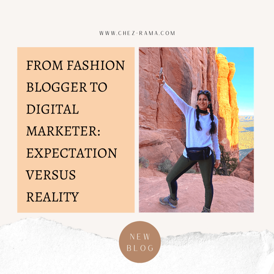 From fashion blogger to digital media marketer: expectation versus reality