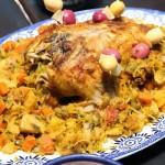 Middle Eastern Cooking 012: Farcie de Poulet Maroccaine, Fes 2014 June