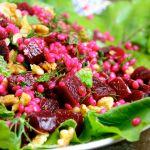 Beetroots, Pearl Couscous, Walnuts, Dil, Zaatar Salad