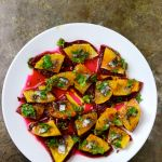Beetroots, Orange & Anchovies Salad, with Cumin Seeds & Coriander Leaves