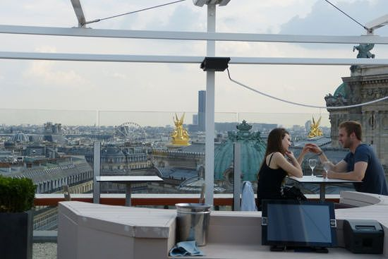 Restaurant terrasse Galeries Lafayette Paris