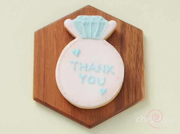 ウェディング結婚指輪のアイシングクッキー