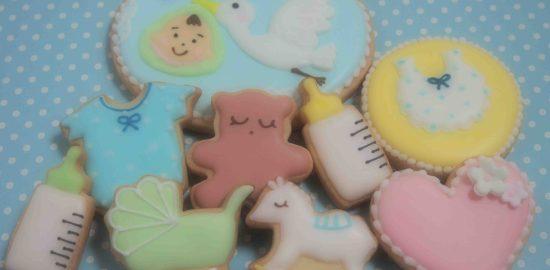 ベビーのアイシングクッキー*baby