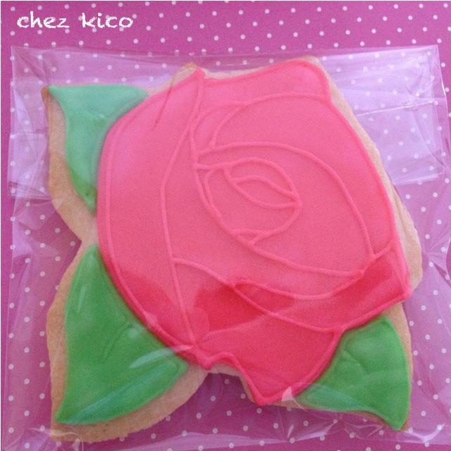 バラのアイシングクッキー