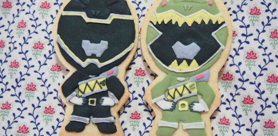 キャラクターのアイシングクッキー(恐竜戦隊ジュウレンジャー)