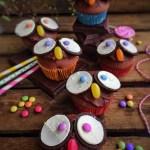 "Muffins tout chocolat version ""hiboux"""