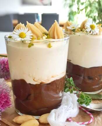 Mousse au chocolat et sa crème d'amandes…