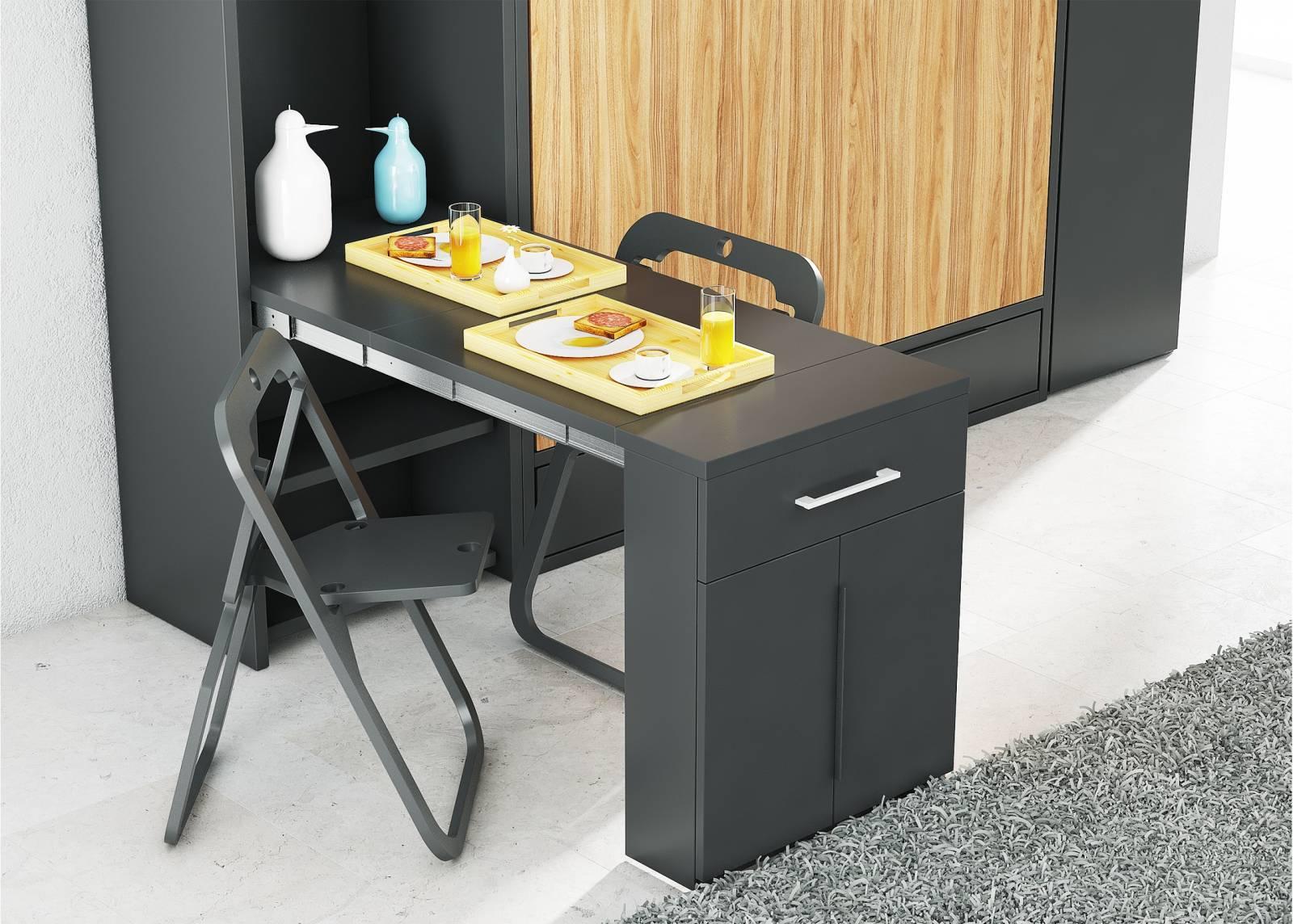 table murale escamotable menton meuble