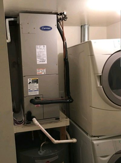 new air handler installed