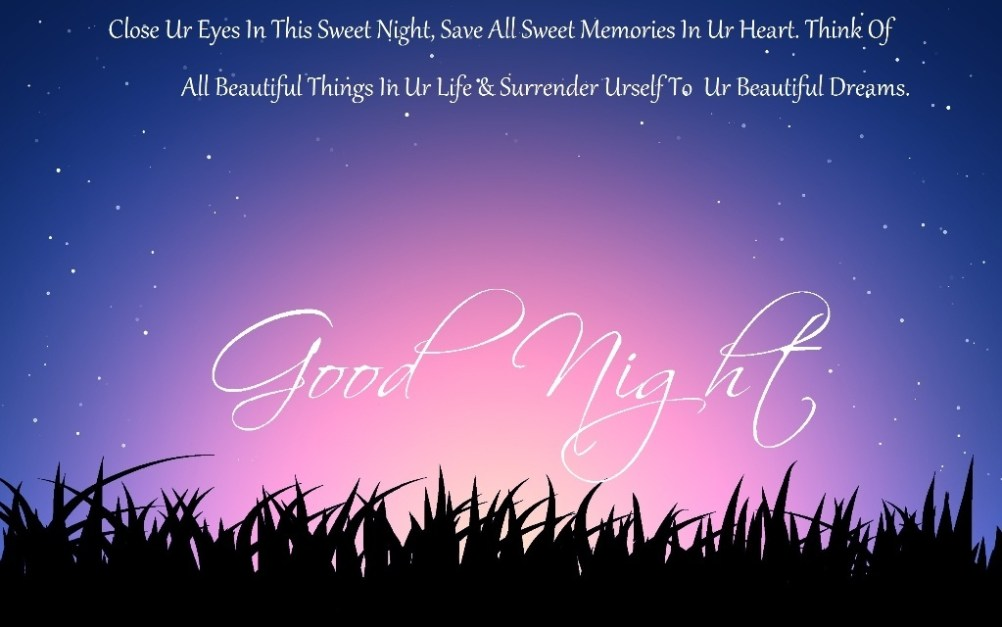 Highly Romantic Good Night Messages Images For Couples