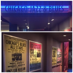 Chicago history museum-Chicago Jazz an Blues exhibit within Crossroads