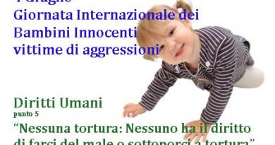 Giornata Internazionale Bambini Innocenti vittime di aggressioni