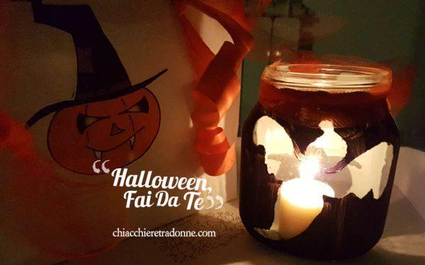 Halloween Fai da Te con i Bambini e un barattolo di Nutella