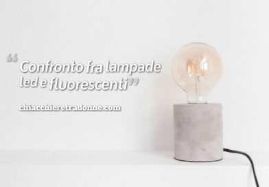 Confronto fra lampade led e fluorescenti