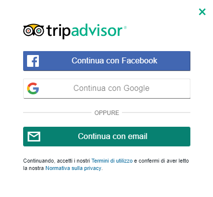 trip advisor come registrarsi
